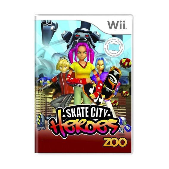 Skate City Heroes Wii Mídia Física Pronta Entrega