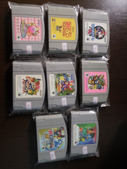 Lote 8 Jogos Nintendo 64 N64 Japão Mario Dk Pokemon Kirby Sm