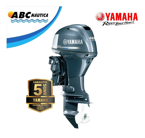Motor De Popa Yamaha 40hp 4t -  Pronta Entrega