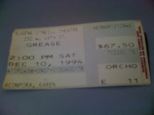 Ingresso Peça Grease Eugene O'neill Theatre Ny Frete 5,00