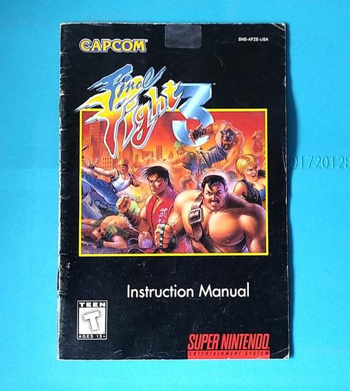 Manual Final Fight 3 Super Nintendo Snes