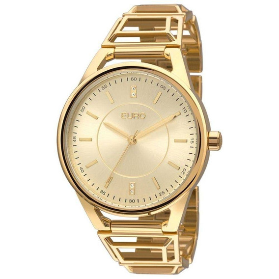 Relógio Feminino Tribal Dourado Eu2035yeq/4d