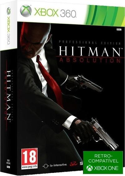 Hitman Absolution Professional Edition - Midia Fisica Original E Lacrado - ( Retrocompativel Com Xbox One ) - Xbox 360