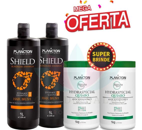 Progressiva Shield Plancton Brinde 2 Mascaras Hidratação 1kg