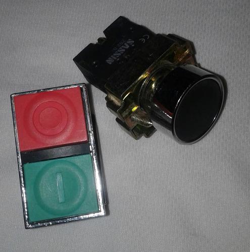 Botón Pulsador Doble Y Sencillo Con Base  Conexión 220v