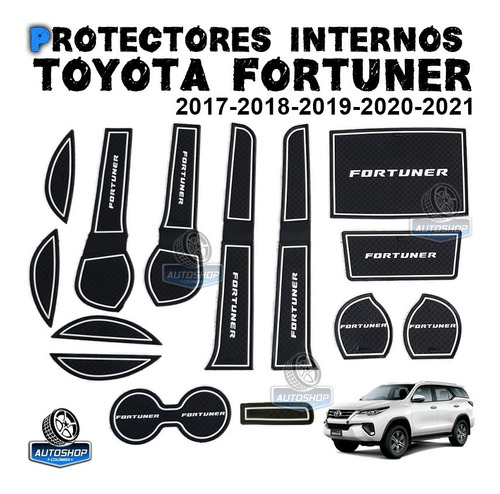 Protectores Internos Toyota Fortuner  Sw4 2017 2018 2019 20