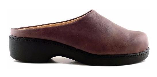 Zueco Cuero Mujer Briganti Zapato Confort Goma Mcsu48017