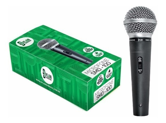 Microfone Prof. Com Cabo Dylan Smd-100 - Musical Eletro