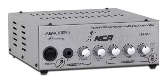 Amplificador Nca Ab-100r4 100 Wats Rms