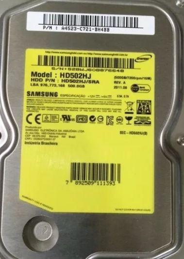 Hd 500 Gb Semi Novo Samsung De Brinde Leve Um Outro De 320gb