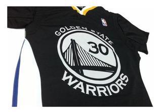 Camiseta Nba Golden State Warriors Curry Negra Basket