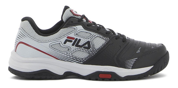 Fila Tenis Top Spin 2.0 Masculino Black/silver/red