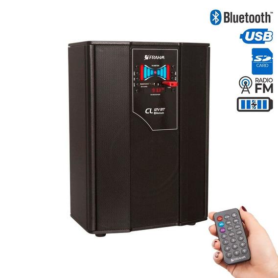 Caixa Multiuso Frahm Bluetooth Usb Sd Fm 50w C/ Bateria 12v