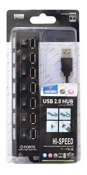 Regua Usb 2.0 Hub 7 Portas Hi-speed 500gb