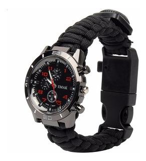 Reloj Multi 16 En 1 Pulsera De Paracord Flint