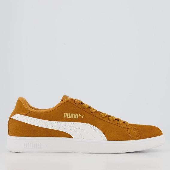 Tênis Puma Smash V2 Amarelo E Branco