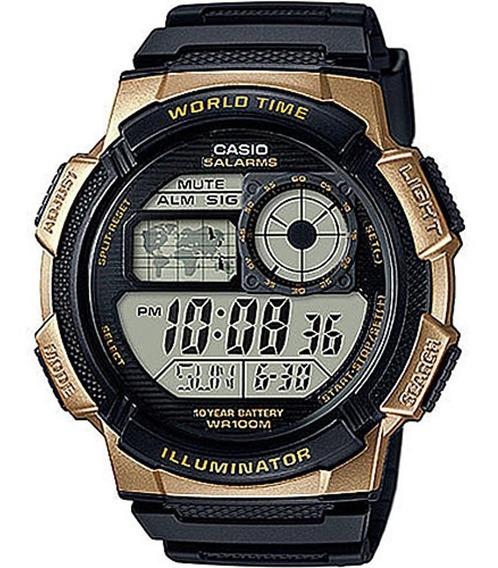 Relógio Masculino Casio Hora Mundi Ae-1000w-1a3vdf - Preto