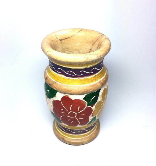 Mini Vaso De Pedra Sabão Decorado Pequeno Exclusivo Linda Decoração!