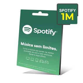 Cartão Presente Spotify 17 Reais - 1 Mês Assinatura Spotify