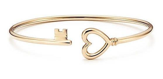 Pulseira Tiff Key Ouro Com Embalagem Bracelete