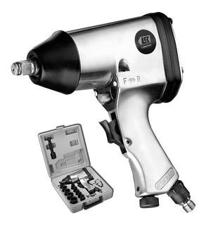 Llave Pistola De Impacto Neumatica Lusqtoff Eje 1/2 + 16 Acc
