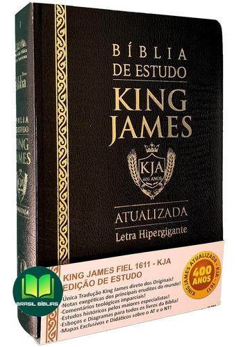 Bíblia De Estudo King James Atualizada - Capa Luxo - Grande