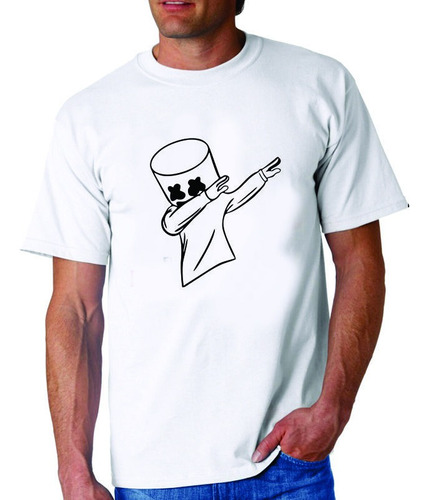 Remera Estampada Logo De  Marshmello Fornite,juego
