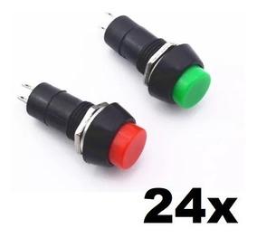 24x Verde Vermelho Botão Switch Retentor 2 Pernas 3a