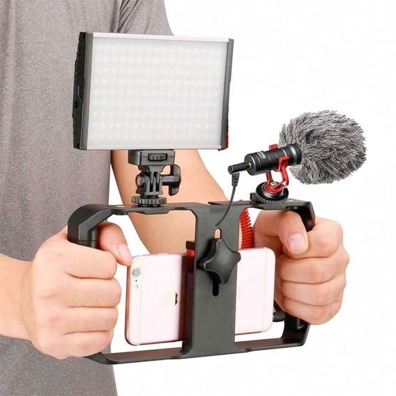 Estabilizador Celular Steadicam Led 160 Microfone Direcional