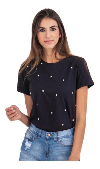 Camiseta Flashy Estampada Estrellas Mujer