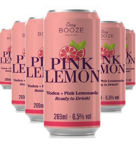 Imagem 1 de 1 de Easy Booze Lata Vodka+pink Lemon 269ml ( 6 Unidades )