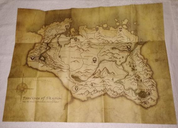 Mapa Do Jogo Skyrim Ps3 ** Desconto Leia O Anuncio