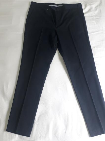 Pantalon De Vestir Christian Dior Azul Oscuro Nuevo