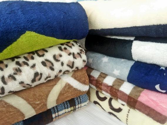 6 Mantas Cobertor Casal Pelúcia Microfibra Super Promoção