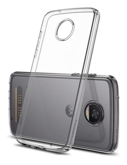 Funda Moto Z2 Play Liquid Crystal Flexible Tpu Spigen Origin