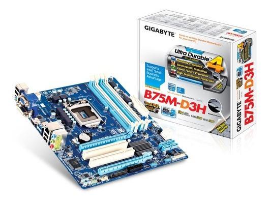Intel Core I3-3250 Hd 320 Gb 04 Gb Ddr3 Gigabyte B75m-d3h