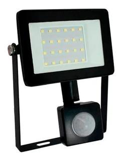 Reflector Lampara Led Con Sensor De Movimiento 20w Luz Fria