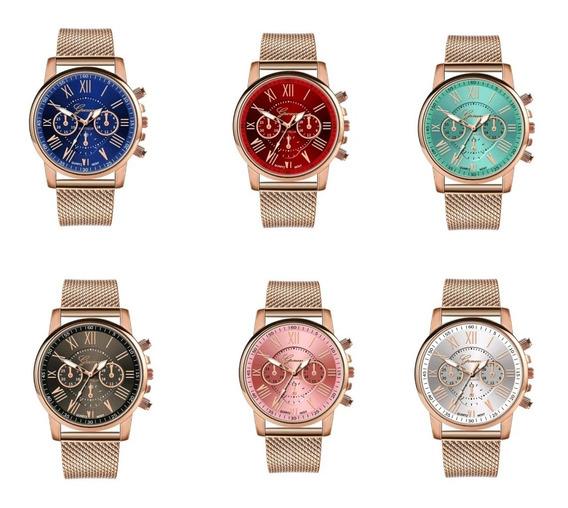 Relógio Feminino Kit 6 Unid