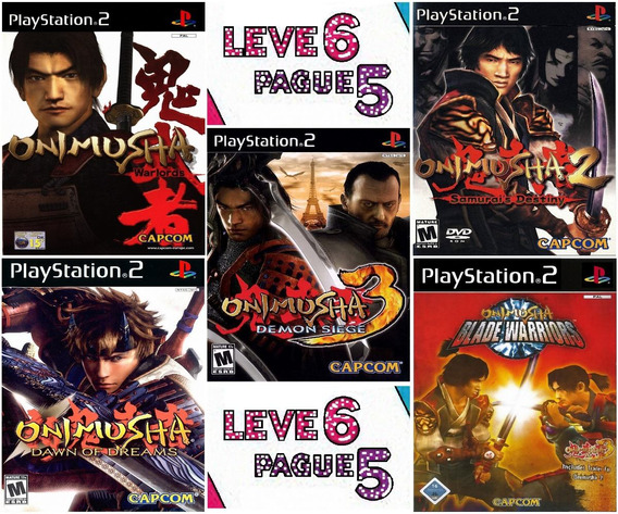 Onimusha Collection (6 Jogos) Ps2 Desbloqueado Patch