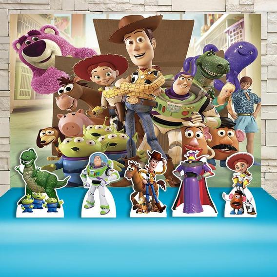 Kit Decoração Festa Infantil Toy Story Cenários Kit Prata