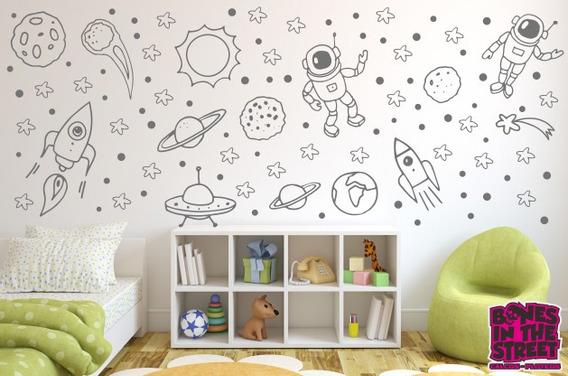 Vinilos Decorativos Planetas.Vinilos Infantiles Del Espacio Planetas Vinilos
