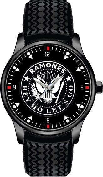 Relógio De Pulso Personalizado Bandarock Ramones Cod.bsrp066