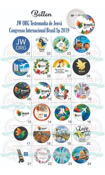 10 Bottons 4,5cm Jw.org Testemunha De Jeová Congresso 2019