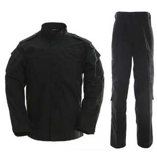 Tenida Cargo Combate Negra Camisa + Pantalón