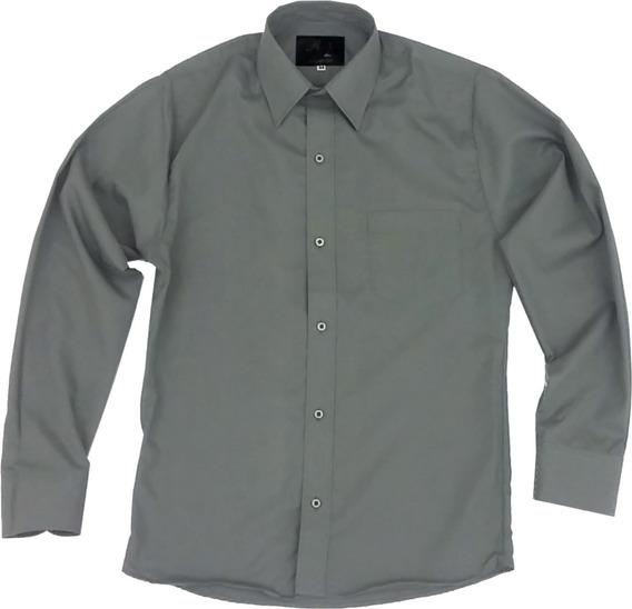 Camisa De Vestir Para Adulto Gris Obscuro Oxford 34 A 42