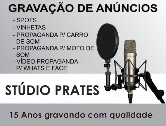 Gravação De Vinhetas Para Rádio E Tv