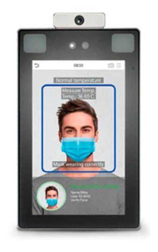 Cámara Reconocimiento Facial Toma Temperatura Control Acceso