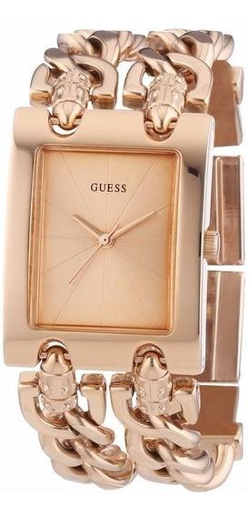Relogio Feminino Guess W0073l2 Rosê Bracelete Original