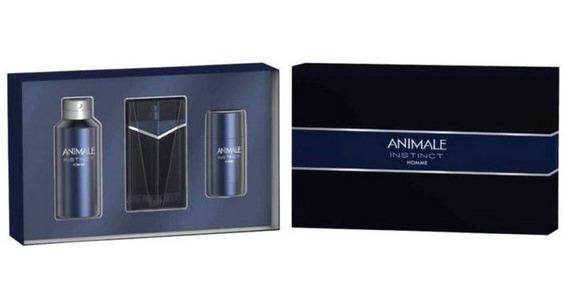 Animale Instinct Men Edt 100ml + Body Spray + Desodorante