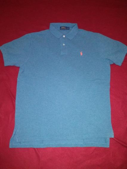 Playera Tipo Polo - Ralph Lauren Azul Acero
